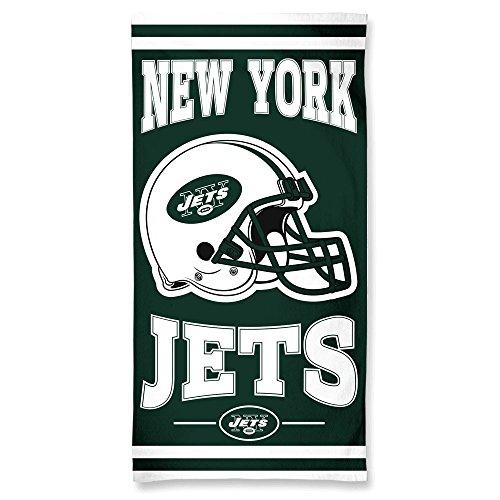 NFL New York Jets Toalla de Playa de Fibra, 10 libras/20 x 60 Pulgadas