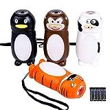 KunHe Small Mini LED Flashlight Pack of 4 Camping Flashlights for Kids 100 Lumen With Battery 2 In 1 Lantern Flashlight