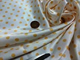 Glatte Liquid Satin weiß/Pale Orange Polka Dots Print