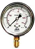 JRA-Longlife Manómetro de glicerina 0-10 bar Conexión diámetro 63, inferior G1/4'