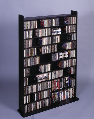 Leslie Dame LDE CD-1000 CD DVD Media Storage Shelving - Holds 1000 CDs or 640 DVDs