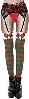 KIRJAUDU Womens Digital Print Ugly Christmas High Waist Stretchy Leggings Tights
