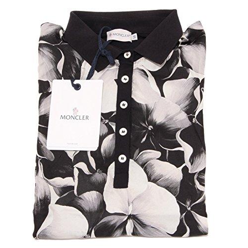 Moncler 3401O Maglia Polo Nero maglie Donna t-Shirt Women [S]