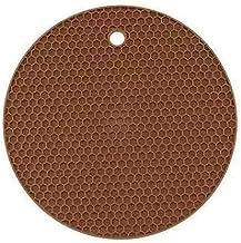 ANXUNYI 12 Colors of Circular Honeycomb Silicone mats, hotproof and Anti-Skid pad, Heat Insulation pan pad, Silicone Table...
