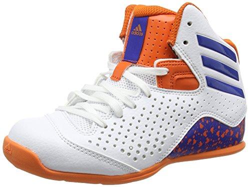 adidas NXT LVL SPD IV NBA K, Scarpe da Basket Bambino, Bianco (Blanco (Ftwbla/Azul/Naranj)), 38 2/3 EU