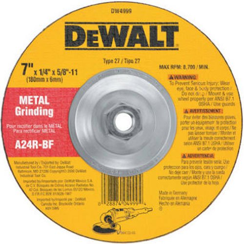 DEWALT Grinding Wheel for Metal, 7-Inch (DW4999)