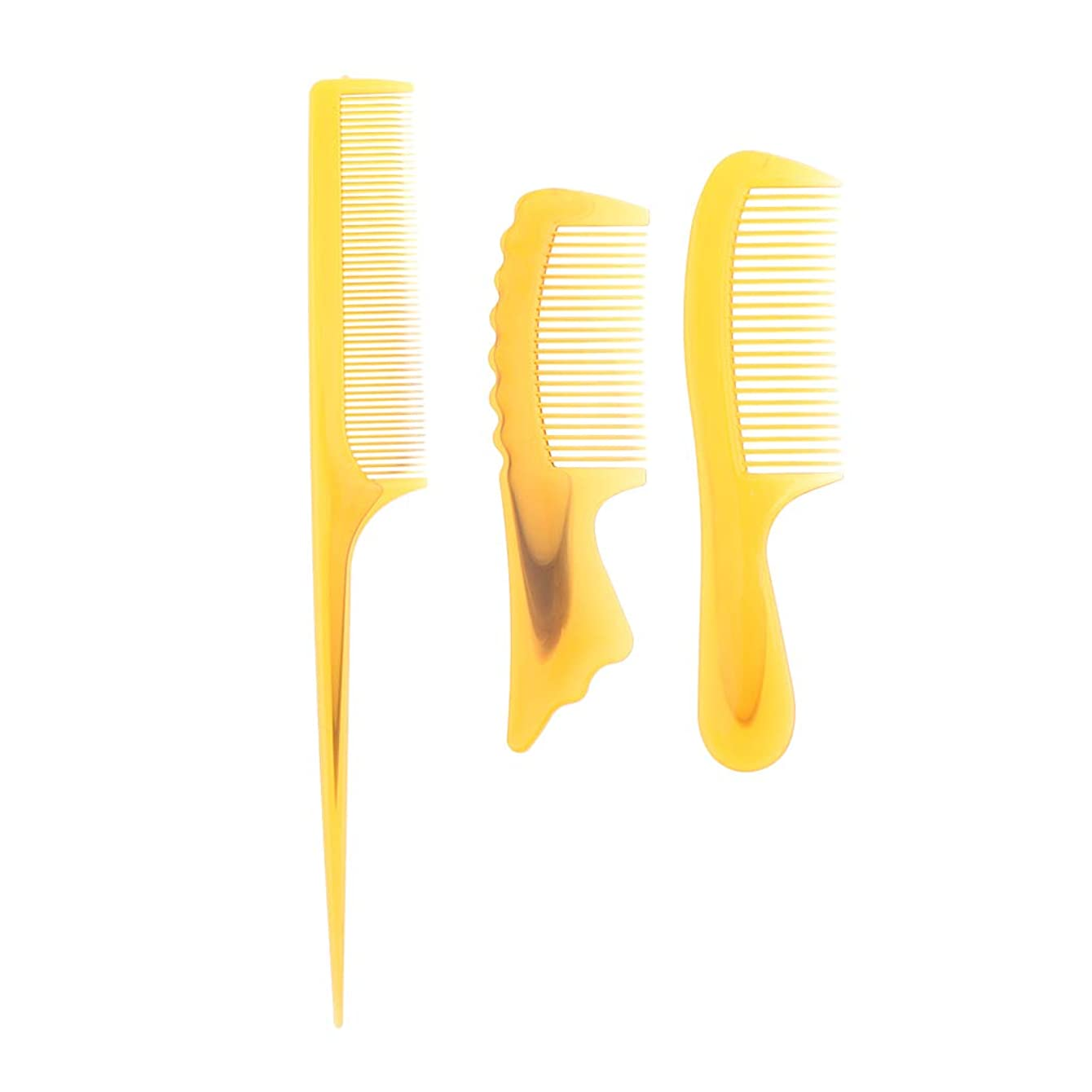 サーフィン襲撃減衰F Fityle 3個 髪の櫛 静電防止櫛 ヘアブラシ ヘアコーム コーム