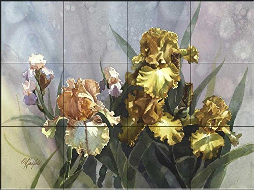 Fliesenwandbild - Iris I- von Clif Hadfield - Küche Aufkantung/Bad Dusche