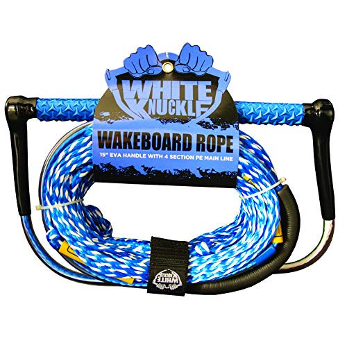 "White Knuckle Wakeboard Rope 15"" EVA Grip w/ 70' Poly Mainline"