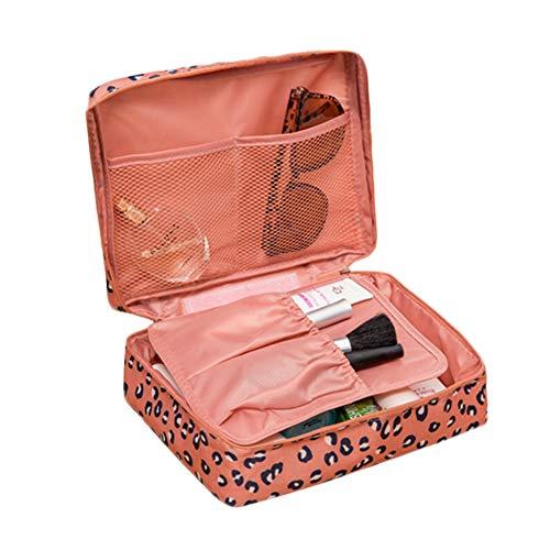 LKMY - Trousse de maquillage portable avec impression florale, imperméable, multi-poches, pour femmes et filles, idéale pour voyager