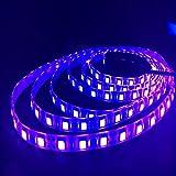 HKANG 5 Metros UV LED Franja Luz 16FT/5M SMD5050 Impermeable UV Blacklights Luz...