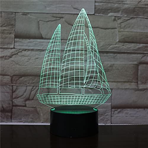 AOXULIU Luz de noche Touch Remote 7 Lámparas De Escritorio Con Cambio De Color Regalos Creativos Lámpara Decorativa De Cabecera Luz De Noche 3D Mesa De Grietas Lámpara De Mesa Moderna Base Blanca