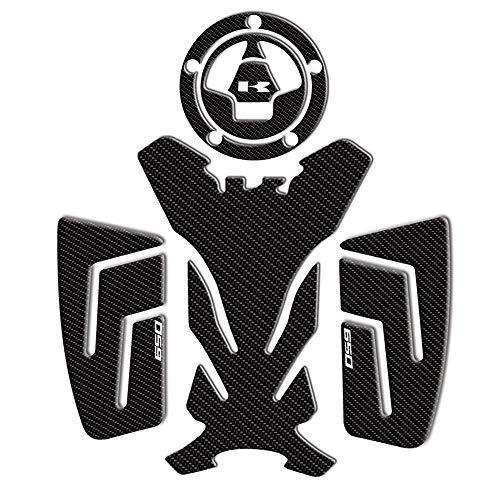 KKmoon almohadilla Deposito Moto Protector Tanque Moto, Pegatina Deposito Moto,Diseño de Fibra de Carbono