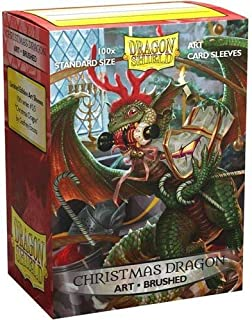 Dragon Shield Sleeves - 100 CT - MGT Card Sleeves - Limited Edition Brushed Art: Christmas Dragon 2020 - Compatible with M...