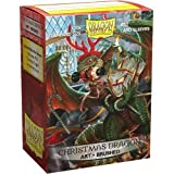 Dragon Shield Sleeves - 100 CT - MGT Card Sleeves - Limited Edition Brushed Art: Christmas Dragon 2020 - Compatible with Magic The Gathering Card Sleeves Pokémon and Other Card Games