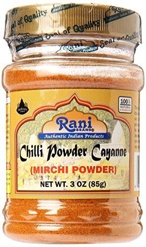 Rani Chilli Powder (Mirchi) Ground Indian Spice 3oz (85g) ~ Gluten Free, Salt Free