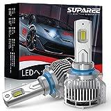 【業界最高輝度】SUPAREE HB3 led ヘッドライト 新車検対応 18000LM 48W 12V/24V車対応 ホワイト 6500K ファン付き 爆光 LEDバルブ 2個入り 3年保証