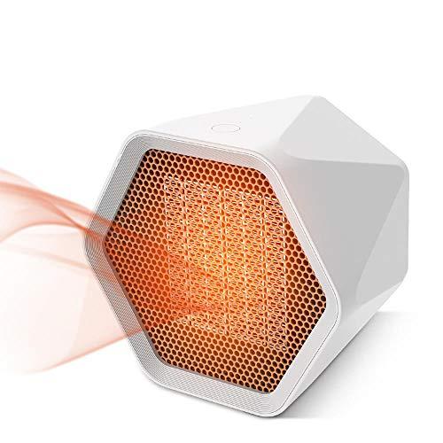 SOOTOP Calentador de Espacio de cerámica, Mini Calentador de Espacio portátil, 1000W 3S Calienta rápidamente Protección contra sobrecalentamiento 2 Niveles de Temperatura Ajustable