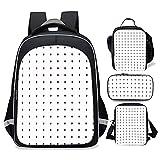 Hiergtly Bucciarati Bruno Pattren Golden Wind Backpacks,Cute Backpack Set 4 Piece(School Bookbag+Single shoulder bag+Lunch Box+Pencil Case)