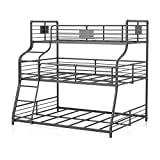 Furniture of America Bryon Metal Black Twin/Full/Queen Triple Bunk Bed