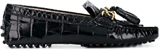 Luxury Fashion | Hogan Women XXW00G0AB70WENB999 Black Leather Loafers | Season Permanent