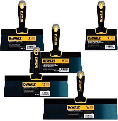 Dewalt Blue Steel Taping Messer 4er-Pack (20,32 cm / 25,4 cm / 30,5 cm + gratis 15,2 cm Bonus, weiche Griffe, DXTT-3-162