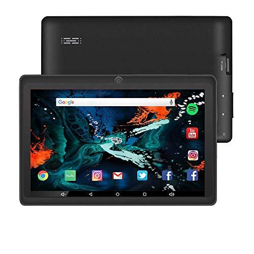 ZONKO Tablette 7 Pouces Android 10.0 Tablette Tactile Enfants, 2GB RAM+32GB ROM Extensible Jusqu'à 128GB, 1024x600 HD IPS, 2.4Ghz WiFi, Caméras 0.3MP+2.0MP, Netflix, GMS, Noir
