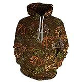 Sudadera Con Capucha Para Hombres Patrón De Verdura 3D Pullover Kangaroo Tops Primavera Y Otoño Deportes Casual Coat - Regalo Juvenil Brown-3X-Large