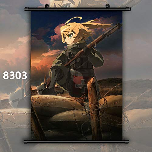For Anime Tanya The Evil Tanya Degurechaff Wallscroll Poster Kunstdrucke Bider Drucke (8303,60x90cm/24x36inches)