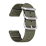 BINLUN Cinturino in Nylon Compatibile con Samsung Watch Galaxy 46mm/Gear S3 Classic/Frontier,Huawei Watch GT2 46mm/GT 2e, Cinturini Zulu 22mm Compatibile con Amazfit Pace/Stratos/GTR 47mm
