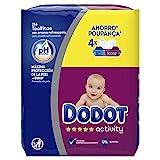 Dodot Activity -Toallitas para bebé, 4 paquetes de 54 unidades, Total: 216 toallitas