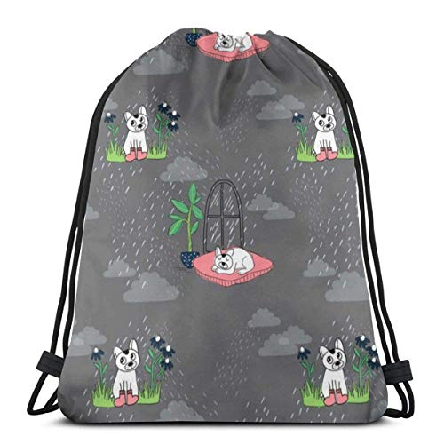 Sid In The Rain 3D Print Drawstring Backpack Rucksack Shoulder Bags Sports Gym Bag For Adult 16.9'X14'inches