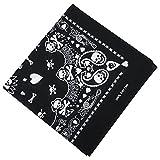 TRIXES Bandana schwarz mit weißen Schädel beidseitig Design-Kopftuch