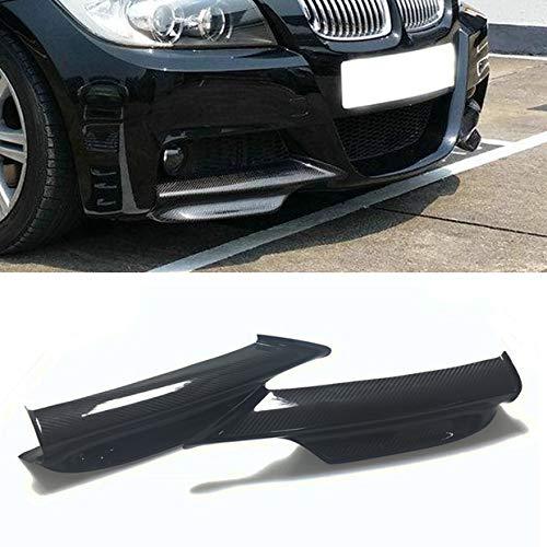 Carbon Fiber Front Bumper Splitter Spoiler Lip Fit for 2006-2008 BMW E90 328i with M TECH Sport Bumper
