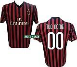 """Maglia Replica Home ROSSONERA CASA Ufficiale """"Nome+Numero Personalizzato Personalizzabile"""" A.C. Milan 2019/2020 (PIATEK PAQUETA' Theo, Ibrahimovic) Adulto Bambino (8 Anni)"""