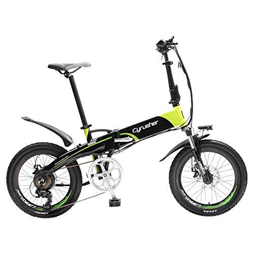 Extrbici XF500 Elektro-Faltrad, 250 W 48 V, 10-Ah-Li-Akku, 50,8 cm (20 Zoll) Laufräder, Rahmen aus Aluminiumlegierung, 7-Fach Shimano-Schaltwerk, für Pendler, Herren, XF500, weiß/schwarz