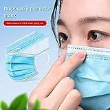 Unisex Desechable M-A-S-K-S A Prueba de Polvo Anti PM2.5 Anti-neblina Transpirable M-A-S-K-S para jardinería Pintura en Aerosol Ride Outing,Azul,40PCS