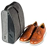 Travel Shoe Bag by Dot&Dot - Premium Packing and Storage Solution for Shoes with Mesh and Handle to Conveniently Organize and Transport Your Shoes While Traveling (Gray, One_Size)