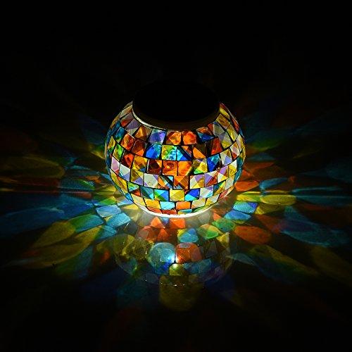 Bola de cristal luces de jardín que cambian de color, luz solar LED, impermeable, funciona con energía solar, lámparas de mesa para fiestas, decoraciones de Navidad