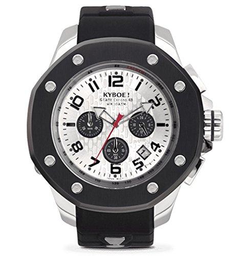 Kyboe. puerto plata sombra KPS. 48–004.15–Reloj cronógrafo para hombre