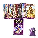 Tarjetas De Tarot De Bruja Adolescente con Bolsa De Terciopelo,Teen Witch Tarot Cards