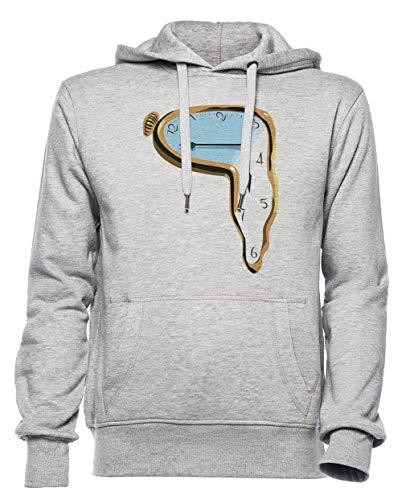 Rundi Fusione Orologio Uomo Donna Unisex Felpa con Cappuccio Pullover Grigio Dimensioni XXL - Women's Men's Unisex Hoodie Sweatshirt Grey