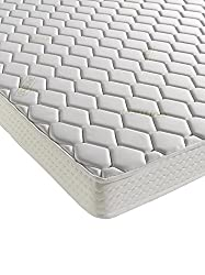 The luxurious Aloe Vera Memory mattress is infused with Aloe Vera extract which has a natural ability to boost the body's defence systems. It also hydrates, soothes and rejuvenates the skin promoting an all round healthier nights sleep 2cm of luxurio...