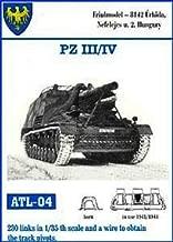 Friulmodel 1/35 Metal Track Link Set for Pz.III H-K & Pz.IV F-J. 40cm width with hollow horn.