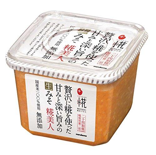 【マルコメ】 糀美人 生みそ プラス糀 無添加 お味噌汁 <国産米100%使用> 味噌汁 650g