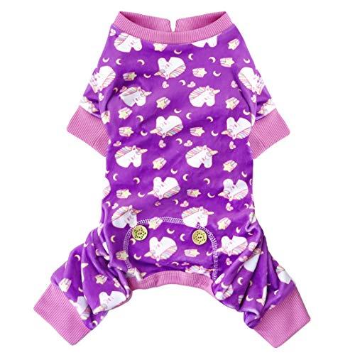 kyeese Hunde-Pyjama für große Hunde, Einhorn, weiches Material, dehnbar, Hunde-Pyjama, Einteiler, Haustier-Pyjama, Hundebekleidung