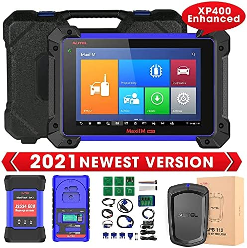 Autel MaxiIM IM608 Top Key FOB Programming Tool [$259 Valued APB112 & Enhanced XP400], 2021 Car Diagnostic Scanner with ECU Coding, Active Test, 31+ Services, All Systems Diagnosis for Workshops/ Pros