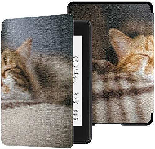 Geheel nieuwe Kindle Paperwhite waterveilige stoffen hoes (10e generatie, release 2018), vooraanzicht Leuke mooie slaapzak voor katten