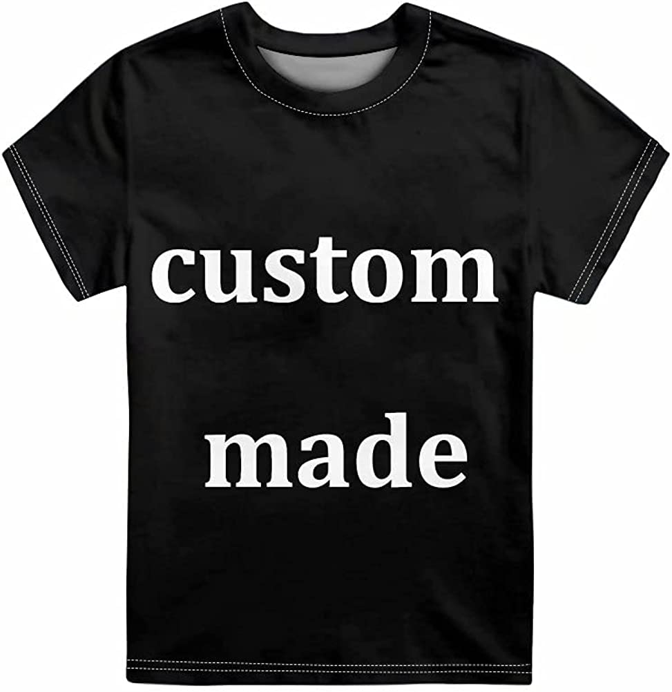 GIFTPUZZ Kids Crewneck Tees Shirts Casual Sport Pullover Tshirts Girls Boys Short Sleeve Tops Size 3-16 Years