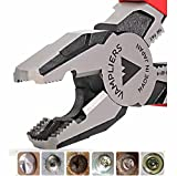 """VAMPLIERS. World's Best Pliers. 8"""" Pro VT-001-8 Lineman's Screw Extraction Pliers Black Friday Cyber Monday Week Deal, Make the Best Gift (Single VamPLIERS)"""